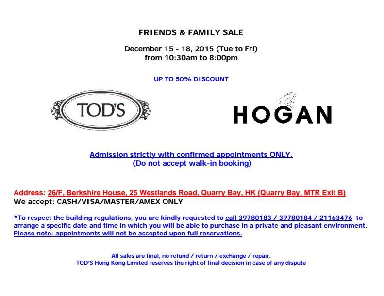 6552e8d8f Tod s and Hogan Friends and Family Sale