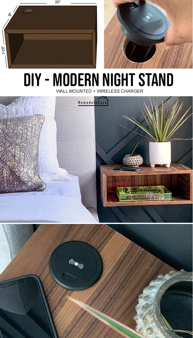 Mid-century modern bedroom decor - night stand