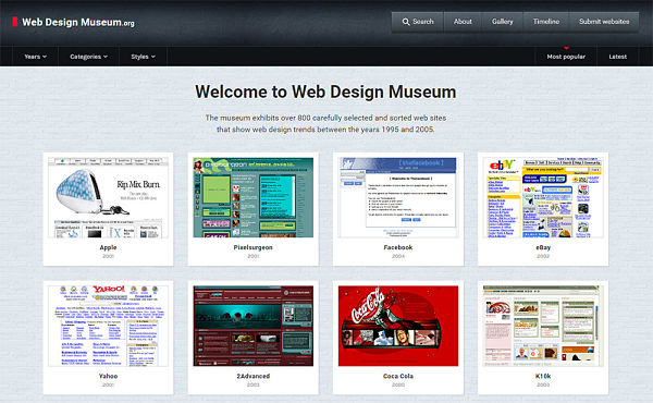 web design museum  como funciona