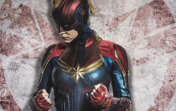 Capitã Marvel – Nova arte mostra personagem usando icônico capacete