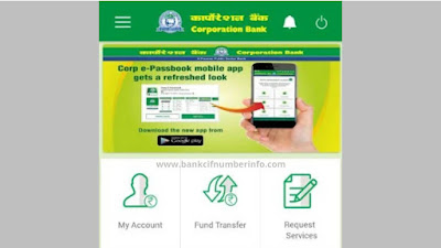 Check Corporation bank balance by Mobile app