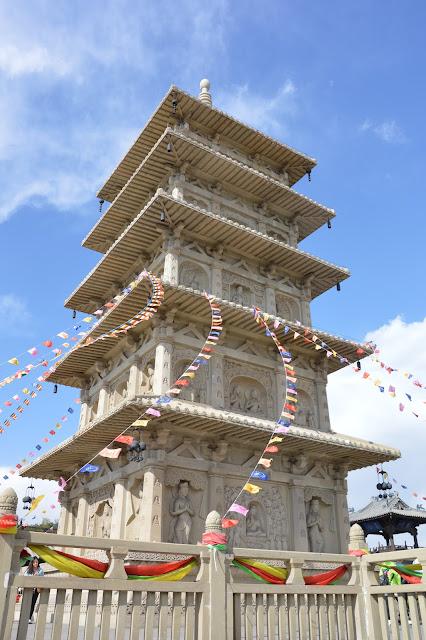 Pagode du temple aux grottes de Yungang