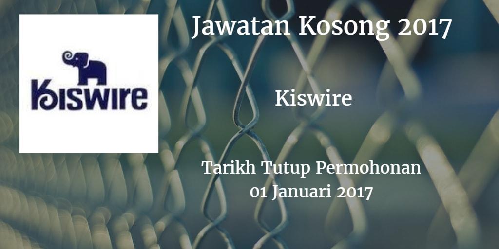 Jawatan Kosong KISWIRE 01 Januari 2017