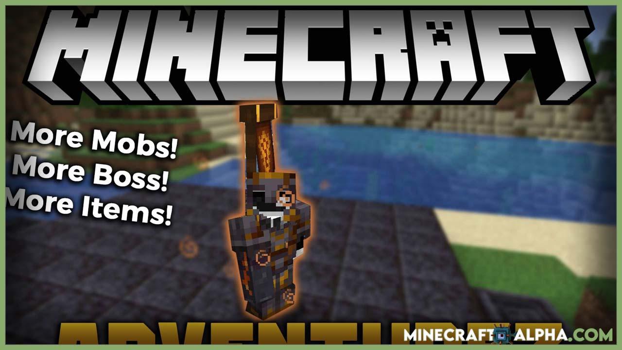Minecraft AdventureZ Mod 1.17.1 (More Mobs, Bosses, Items)