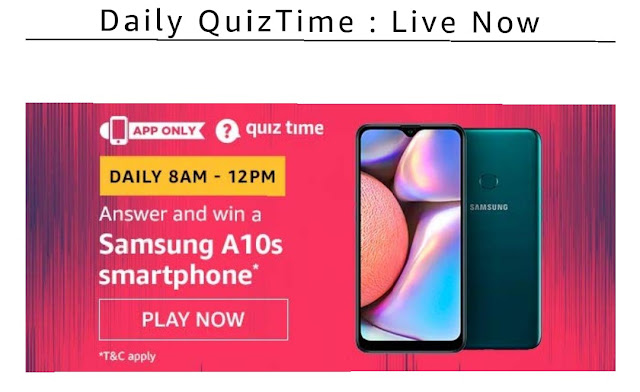 Samsung a10s quiz answer