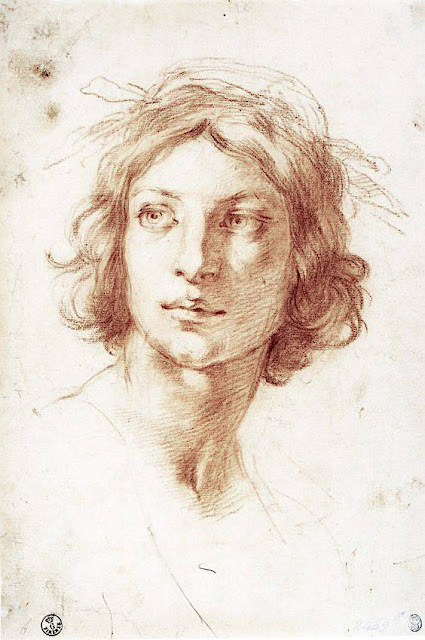 Furini (1603-1646), Tête de jeune homme, Uffizi