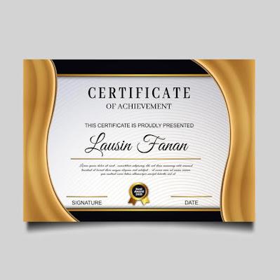 background sertifikat kosong