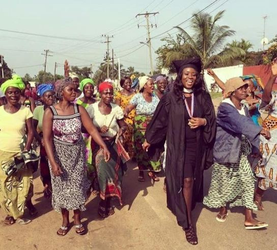 Viral Photo - Africans Celebrating The First Graduate In Their Community
