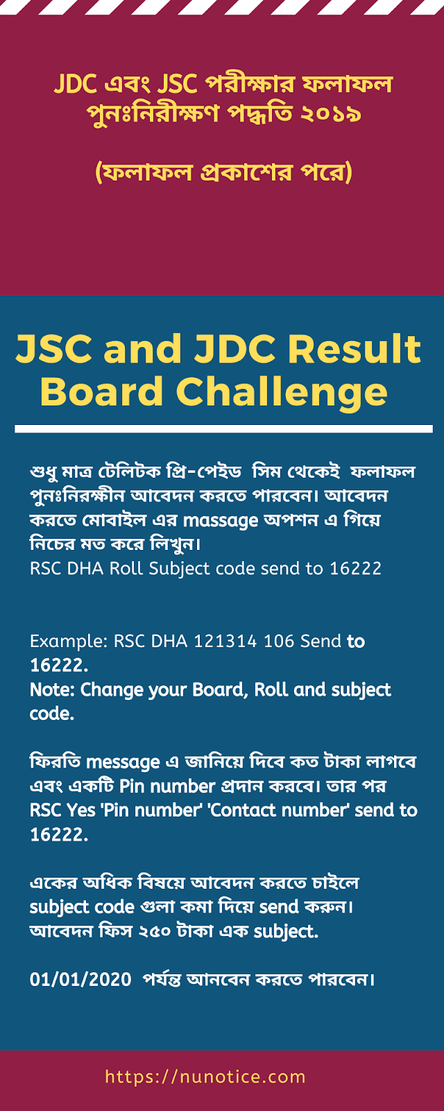 JDC result Board challenge infographic