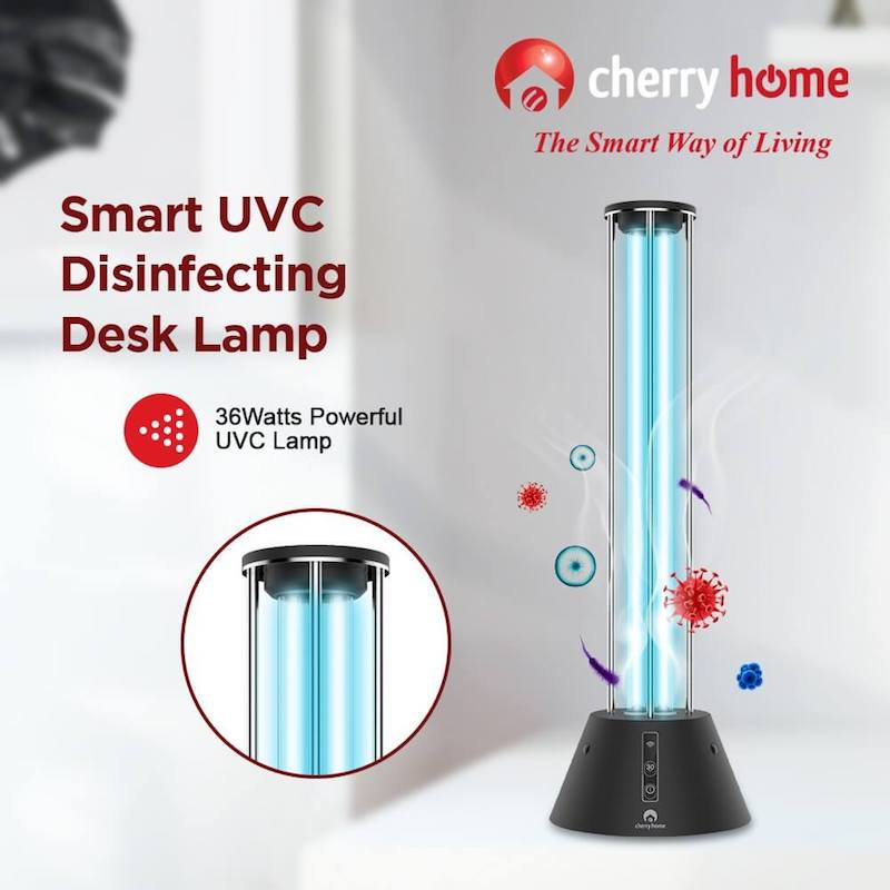 Cherry Smart UVC Disinfecting Desk Lamp now available at PHP 2,999