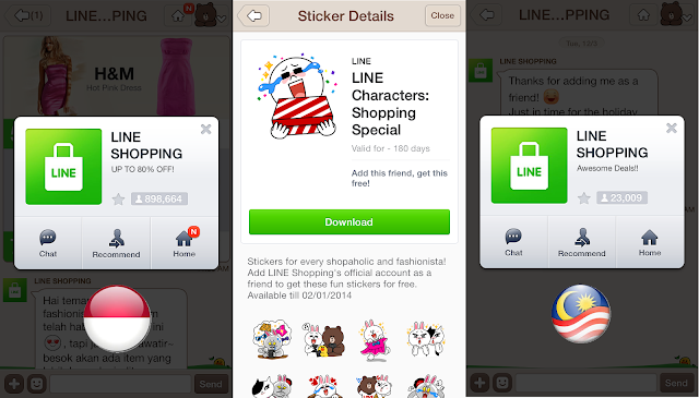 LINE Shopping launched in Indonesia and Malaysia