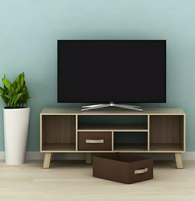 Rak tv minimalis bahan particle board