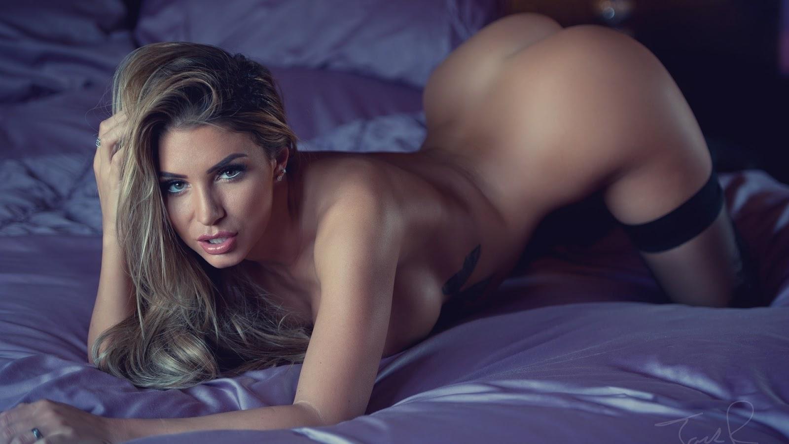 Wallpaper, sexy wallpaper, ragazze nude, wallpaper pc, ragazza nuda, capelli biondi, trucco, letto, culo, tette