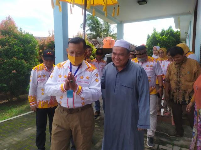 Pererat Silaturahmi, Ike Edwin Kunjungi Firmansyah Lawan Politiknya