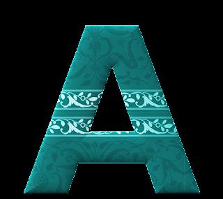Abecedarioo Color Turquesa con Adornos.