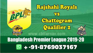 Rajshahi vs Chattogram BPL T20 Qualifier 2