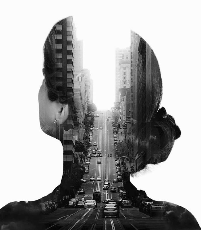 08-Downtown-Alexis-Nevess-nevessart-Photographic-Double-Exposures-of-people-and-Animals-www-designstack-co