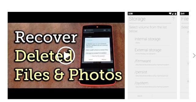 cara mengembalikan file terhapus menggunakan Undeleter Recover File dan Data