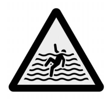 이곳에서 수영을 하면 위험합니다