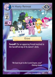 MLP A Hasty Retreat The Crystal Games CCG Card