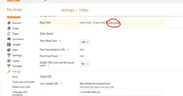 How To Delete Your Blogger Blog