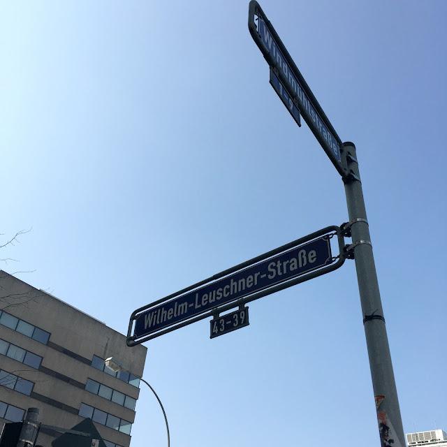 Frankfurt Germany Wilhelm-Leuschner-Strabe street sign
