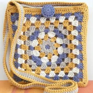 Bolso Square a Crochet