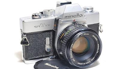 Minolta SRT-101b (Chrome) Body #364, Minolta MC Rokkor-PF 50mm 1:1.7 #602