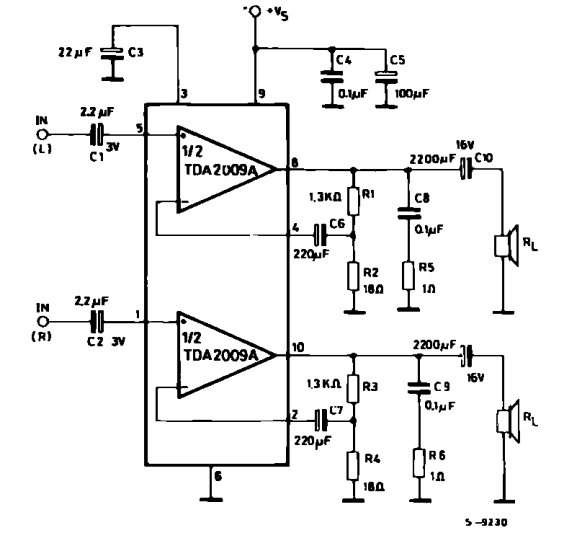 circuit diagram tda2009a