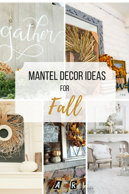 Collage of mantel decor ideas