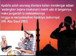 Azan Subuh berkumandang Lanjutkan Sahur hingga selesai foto: ciricara.com dan mtf-online.com