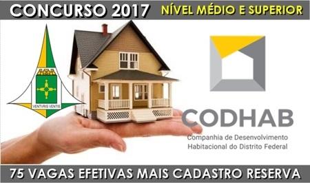 Edital concurso Codhab 2017