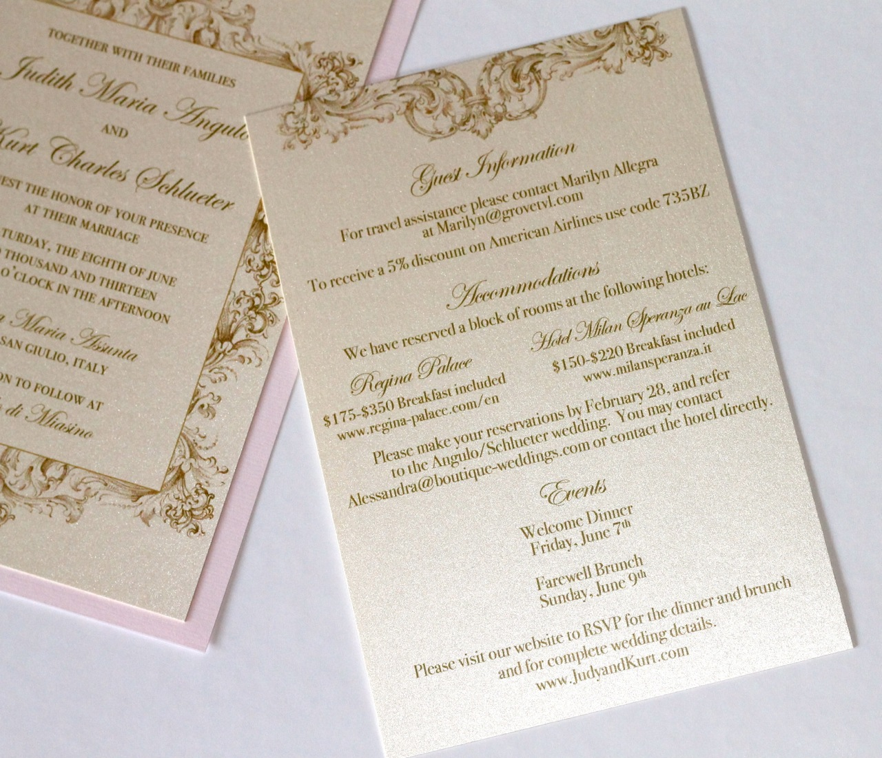 Gold Wedding Invitations: Embellished Paperie: Vintage Wedding Invitations In Ivory