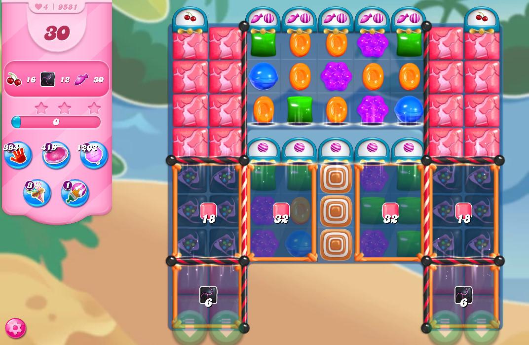 Candy Crush Saga level 9581