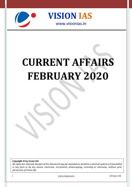 Vision IAS Monthly Current Affairs (February 2020) : For UPSC Exam PDF Book