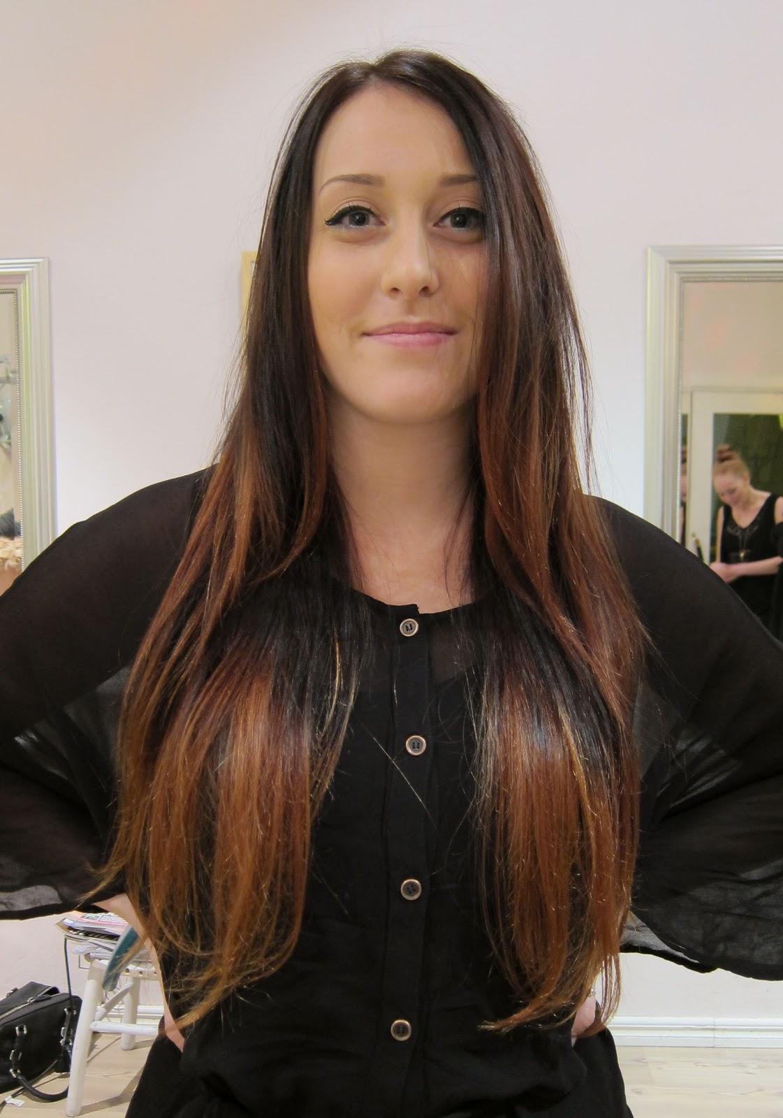 Liukuvärjätyt Hiukset