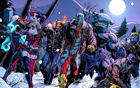 Nom: Suicide Squad  Alias: Task Force X  Identité: Groupe d'intervention gouvernemental  Membres connus :  Rick Flag, Amanda Waller, Captain Boomerang, Bronze Tiger, Ravan, Nightshade, Deadshot, Raza attuah , Multiplex, Count Vertigo, Général Wade Eiling, Windfall, Vixen, Shade, the Changing Man, Poison Ivy, Barbara Gordon, Nemesis, Major Victory, Javelin, Enchanteresse, Lashina, Dr. Light, Captain Cold, Black Orchid, Black Adam, Karin Grace, Plastique, Le Roi du Temps, Deadshot, Harley Quinn, King Shark, Black spider, Chato Santana alias El Diablo  Nationalité: Multiples  Première apparition: The Brave and the Bold #25, (1959)   Le Suicide Squad, ou Task Force X, est un groupe d'intervention secret du gouvernement americain. Il est composé de criminels a qui l'on a proposé des remises de peines, mais si jamais l'idée leurs venait de trahir une micro charges explosives les tuerait. En tant que criminels, les membres du Suicide Squad, sont considérés comme quantité négligeable de ce fait les missions qu'on leur confies sont des missions suicide. Le groupe est formé par Amanda Waller et est dirigé sur le terrain par Rick Flag