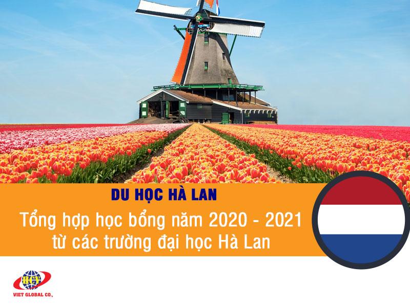 Du học Hà Lan: Học bổng năm 2020 – 2021 từ các trường đại học Hà Lan