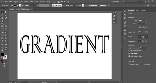 Gradient Text in Adobe Illustrator