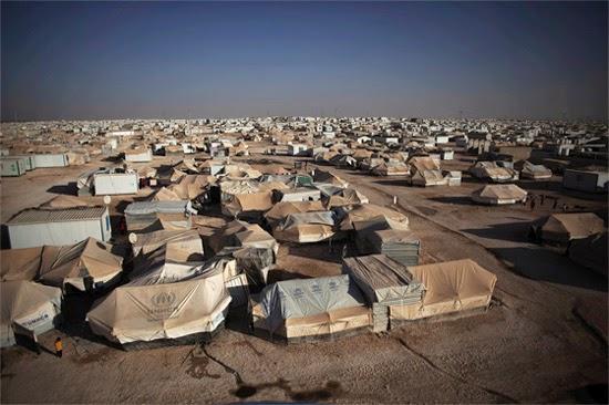 campo de refugiados na Síria