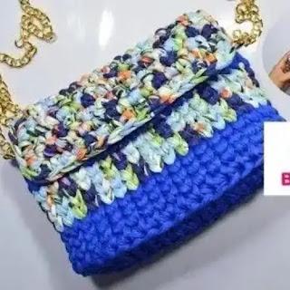 Cartera en Trapillo a Crochet