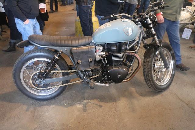 custom built triumph motorcycle by british customs