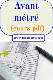 Métré et avant métré - cours d'initiation pdf