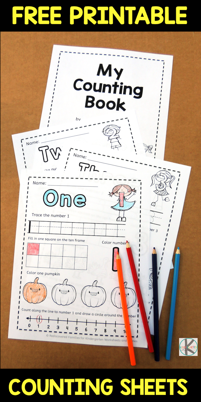 Counting worksheets 1 5