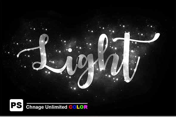 christmas lights text effect photoshop