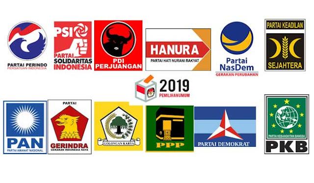 Inilah 14 Parpol Peserta Pemilu 2019