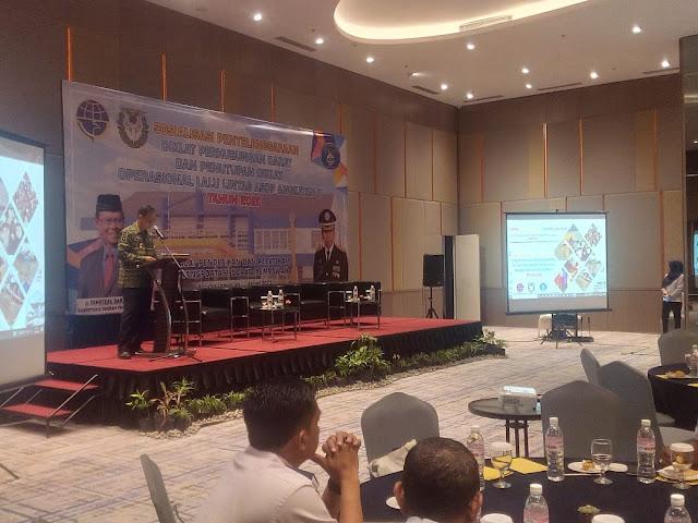 Gubernur Arinal diwakili oleh Asisten Perekonomian & Pembangunan Prov. Lampung, Menghadiri Acara Sosialisasi Penyelenggaraan Diklat Perhubungan Darat