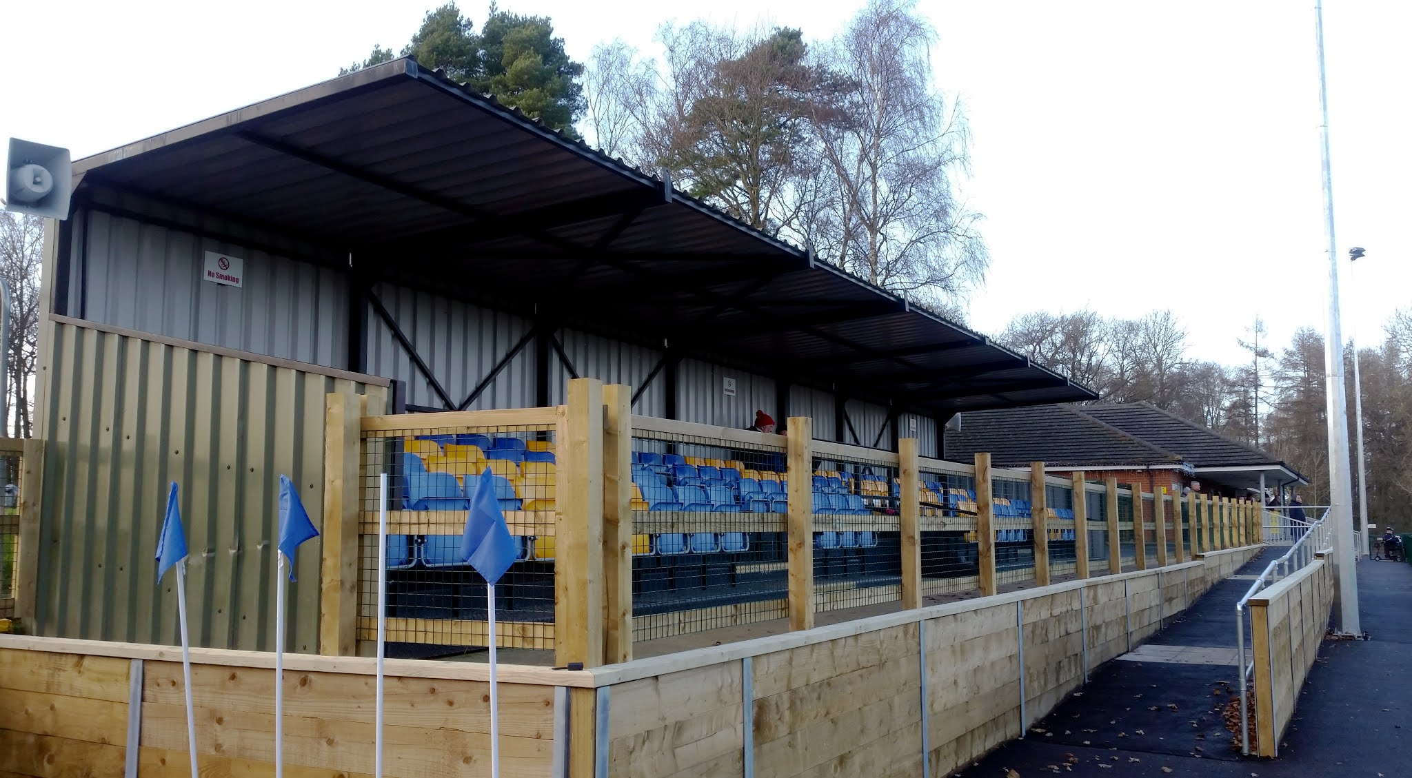 The new seated stand at Ascot United's Racecourse Ground