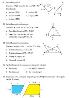 Pembahasan Uji Kompetensi 4 Halaman 264 Matematika Kelas 9 Kongruen