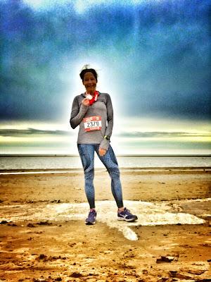 Grateful runner